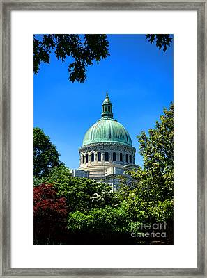 United States Naval Academy Chapel Framed Print by Olivier Le Queinec