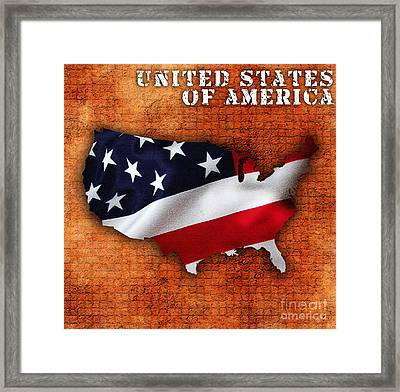 United States Of America Framed Print by Marvin Blaine
