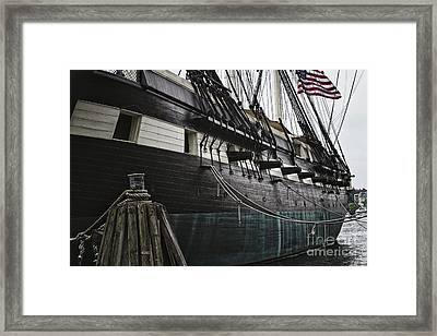 United States Ship Constellation Framed Print by George Oze