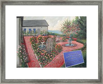 Unity Rose Garden  Framed Print by Kenneth Stockton