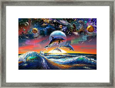 Universal Dolphins Framed Print by Adrian Chesterman