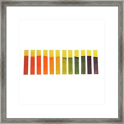 Universal Indicator Paper Framed Print by Science Photo Library
