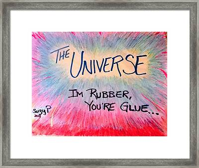 Universal Karma Framed Print by Suzanne Perry