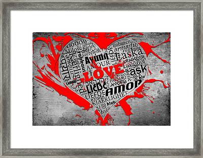 Universal Love Framed Print by Pedro Correa