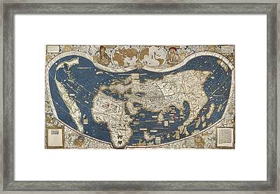 Universal Map, Belonging To The Work Framed Print by Everett