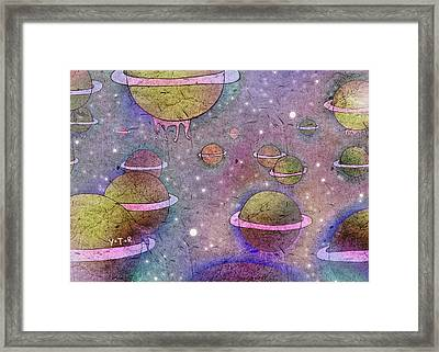 Universe Framed Print by Yoyo Zhao