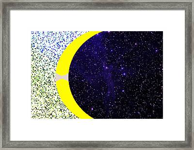 Universes Seeking Equilibrium Framed Print by Bruce Iorio