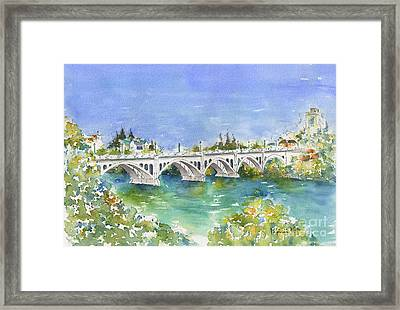 University Bridge Framed Print by Pat Katz
