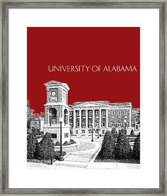 University Of Alabama #2 - Dark Red Framed Print by DB Artist