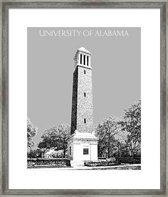 University Of Alabama - Silver Framed Print by DB Artist