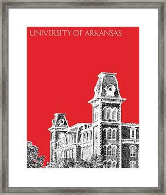 University Of Arkansas - Red Framed Print by DB Artist