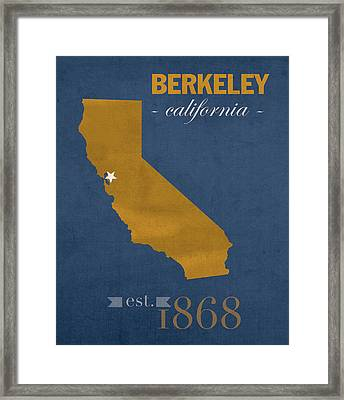 University Of California At Berkeley Golden Bears College Town State Map Poster Series No 024 Framed Print by Design Turnpike