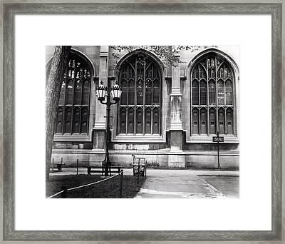 University Of Chicago 1970s Framed Print by Joseph Duba