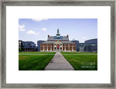 University Of Cincinnati Tangeman University Center  Framed Print by Paul Velgos
