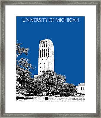 University Of Michigan - Royal Blue Framed Print by DB Artist