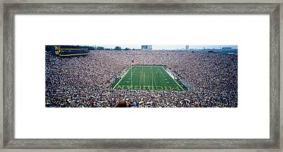 University Of Michigan Football Game Framed Print by Panoramic Images