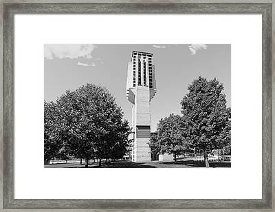 University Of Michigan Lurie Bell Tower Framed Print by University Icons