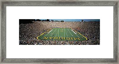 University Of Michigan Stadium, Ann Framed Print by Panoramic Images
