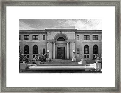 University Of Notre Dame Bond Hall Framed Print by University Icons