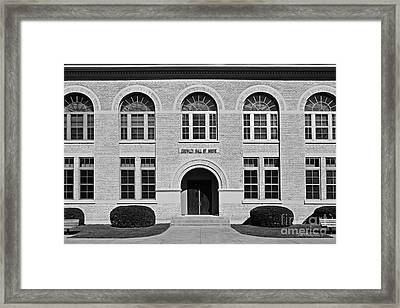University Of Notre Dame Crowley Hall Of Music Framed Print by University Icons