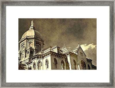 University Of Notre Dame Framed Print by Dan Sproul