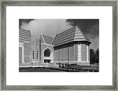 University Of Notre Dame De Bartolo Performing Arts Center Framed Print by University Icons