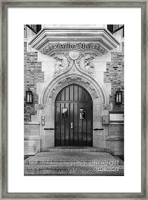 University Of Notre Dame Dillon Hall Framed Print by University Icons