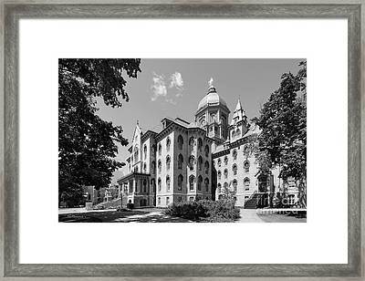 University Of Notre Dame Main Building Framed Print by University Icons