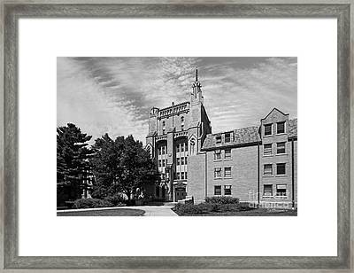 University Of Notre Dame Morrissey Hall Framed Print by University Icons