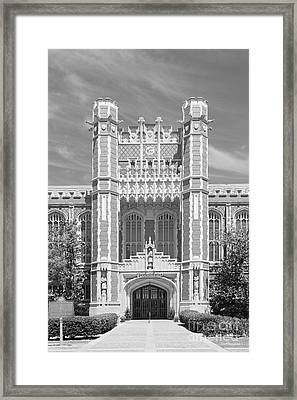 University Of Oklahoma Bizzell Memorial Library  Framed Print by University Icons