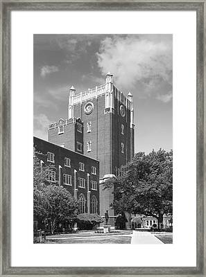 University Of Oklahoma Union Framed Print by University Icons
