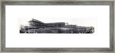 University Of Pittsburgh Vs W And J College Forbes Field Pittsburgh Pa 1915 Framed Print by Bill Cannon