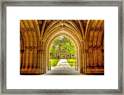 University Of Princeton Building Framed Print by Geraldine Scull