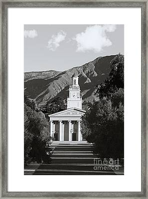 University Of Redlands Memorial Chapel Framed Print by University Icons