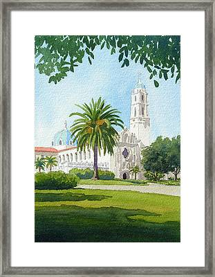 University Of San Diego Framed Print by Mary Helmreich