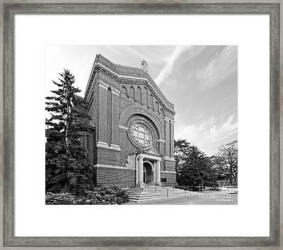 University Of St. Thomas Chapel Of St. Thomas Aquinas Framed Print by University Icons