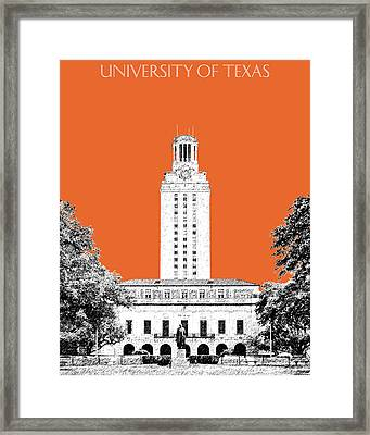 University Of Texas - Coral Framed Print by DB Artist