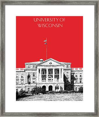 University Of Wisconsin - Red Framed Print by DB Artist