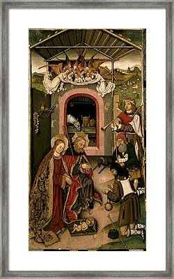Unknown, Crib Altarpiece, 15th Century Framed Print by Everett