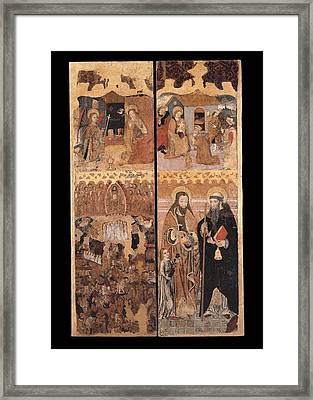 Unknown, Retablo Of The Last Judgment Framed Print by Everett
