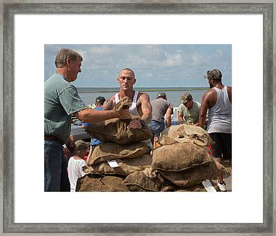 Unloading Harvested Oysters Framed Print by Jim West