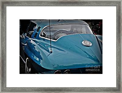 Unmistakeable Tail 65 Corvette Stingray Framed Print by JW Hanley