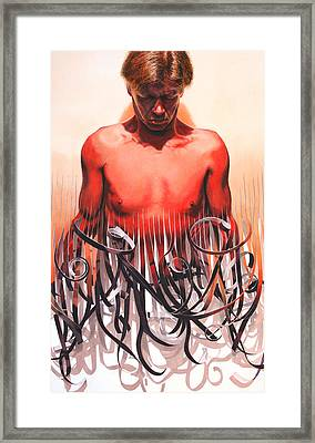 Unraveled Framed Print by Denny Bond