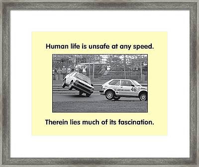 Unsafe At Any Speed Framed Print by Mike Flynn