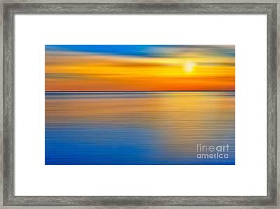 Unseen Sunset - A Tranquil Moments Landscape Framed Print by Dan Carmichael