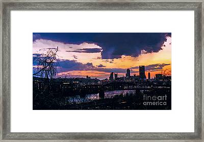 Unsettled Framed Print by Charlie Cliques