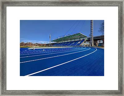 Until The Race Is Run Framed Print by Evelina Kremsdorf