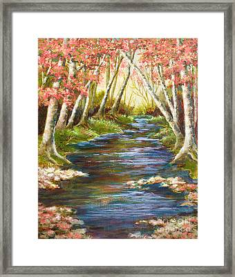 Up A Creek Framed Print by Vic  Mastis