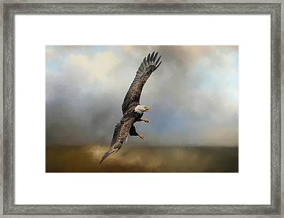 Up Against The Storm Framed Print by Jai Johnson