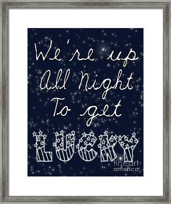 Up All Night Framed Print by Pati Photography